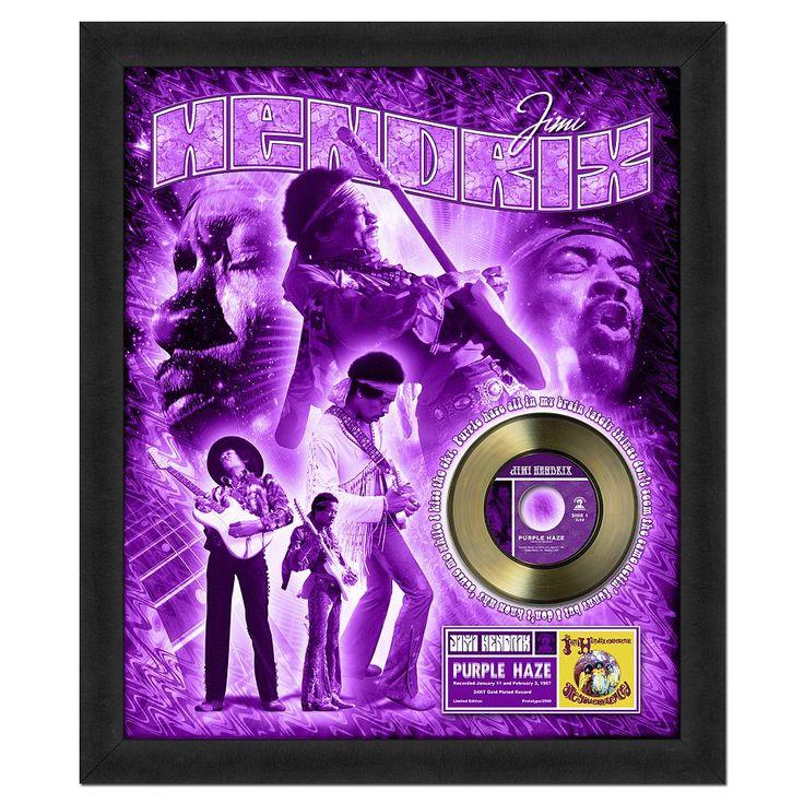 "Jimi Hendrix Purple Haze 20"" x 24"" Framed Gold Record, Multicolor"