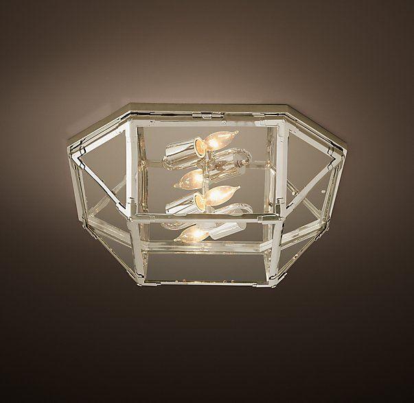 Parisian Octagonal Clear Glass Flushmount