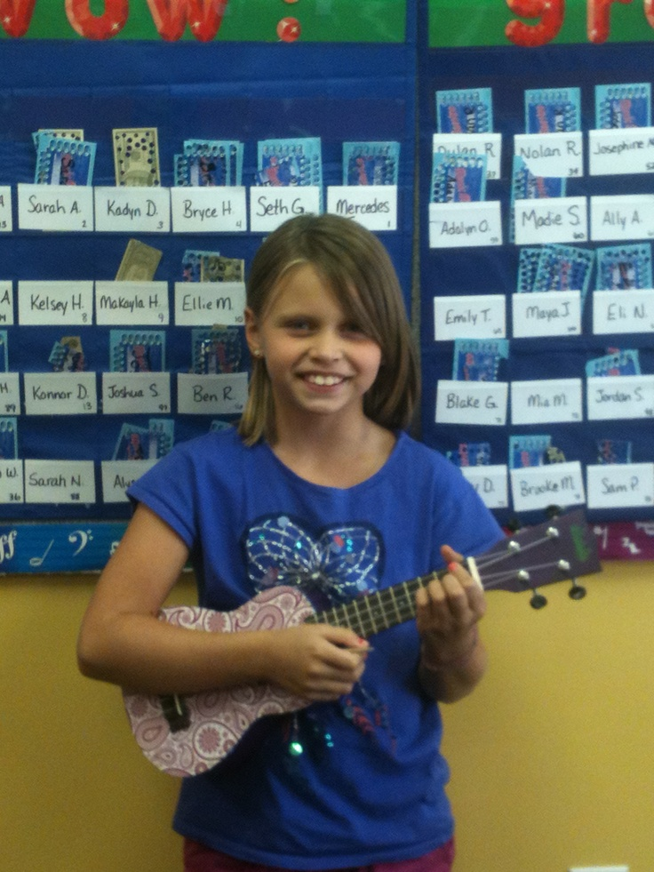 This is one of our students who plays the Ukulele and Piano very skillfully