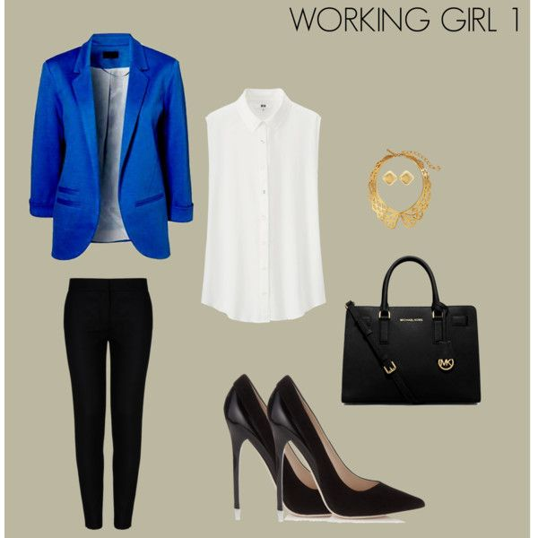 WORKED GIRL 1 by marisol-fernandez-zumba on Polyvore featuring polyvore fashion style Uniqlo STELLA McCARTNEY Jimmy Choo Michael Kors Oscar de la Renta Charlotte Russe