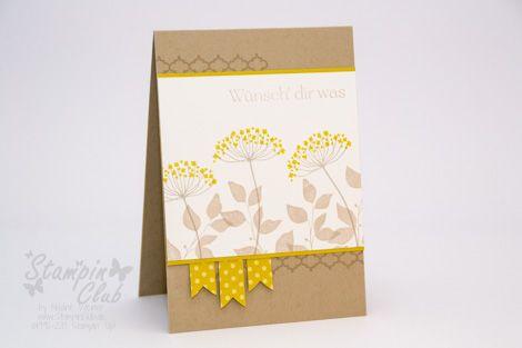 Stampin Up card Karte Birthday Geburtstag Summer Silhouettes Kleiner Wort-Schatz Sweet Essentials from www.StampinClub.de