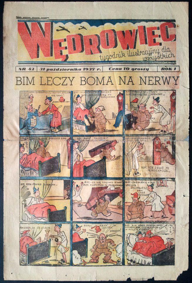 """Tygodnik """"Wędrowiec"""" - 31 październik 1937 r. #MUZEUMKOMIKSU"""