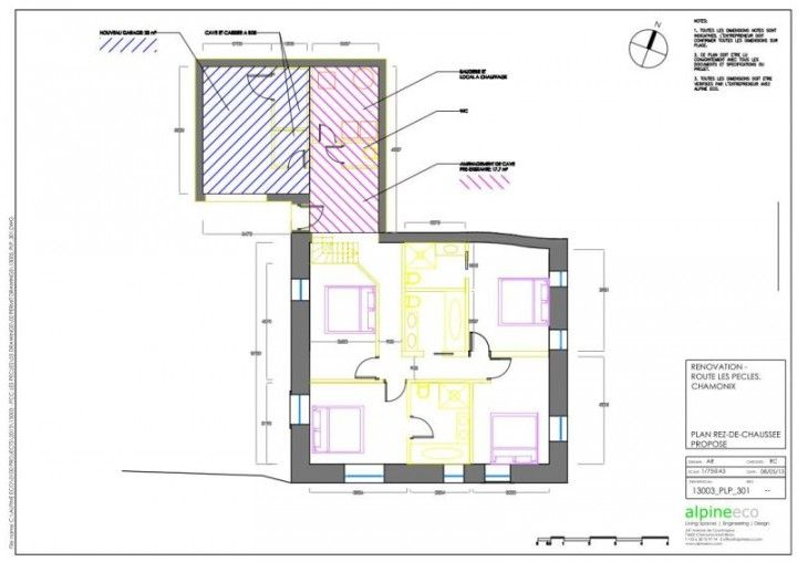 Chalet Les Pecles - New ground floor architectural plans