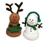 Reindeer Clay Pot Craft | Crafts Direct Blog: December 2008