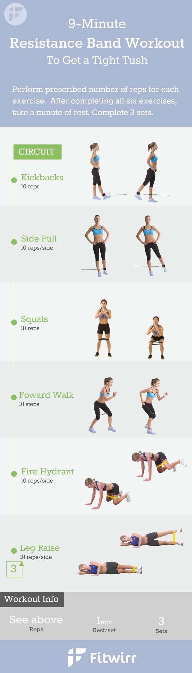 Quick Workouts You Can Do on Your Lunch Break - 9-Min Resistance Band Workout - Awesome Full Body Workouts You Can Do Right At Home or On Your Lunch Break- Cardio Routine for Beginners, Abs Exercises You Can Bang Out Before Shower - You Don't Need to Hit  https://www.musclesaurus.com/flat-stomach-exercises/