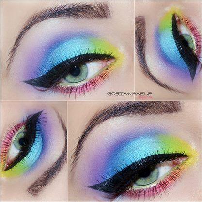 #makeup #beauty #colorful #inspiracja #mua