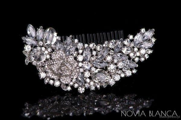 Kryształowy grzebyk ślubny, Novia Blanca, 179 zl