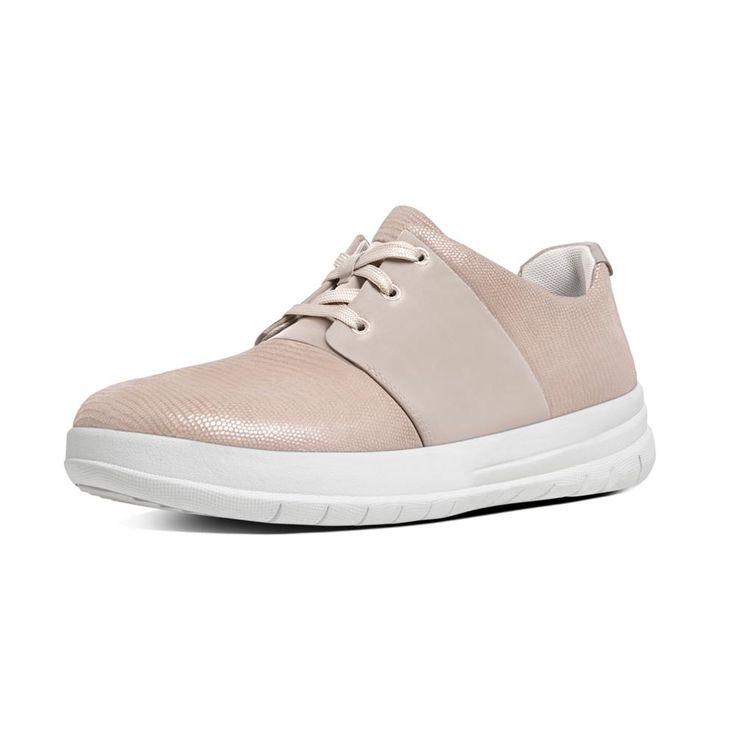 FitFlop Sporty-Pop X Lizard Print Sneakers Nude PinkFitFlop Official Online Store