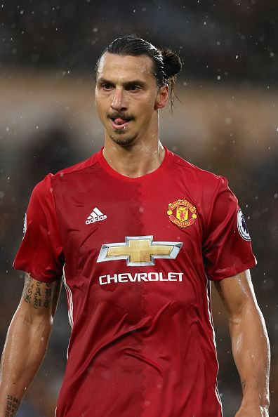 Zlatan Ibrahimovic of Manchester United during the Premier League match between…