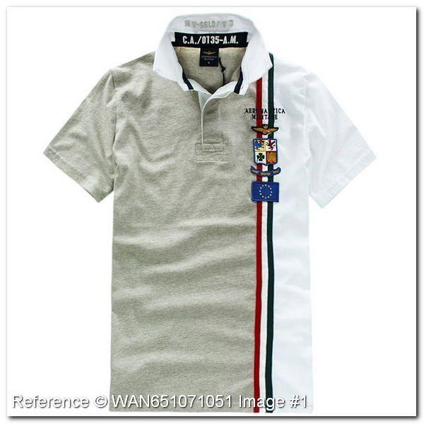 Aeronautica Militare Polo T-Shirt. Brown color. NE151QE. Aeronautica Militare Men's Polo Shirts - Aeronautica Militare Polo Shirts & T-Shirts - trendy.to