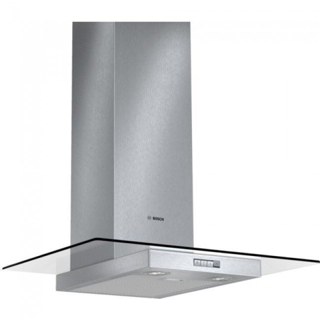 BOSCH DWA074W50B 70cm Chimney extractor hood with glass canopy brushed steel
