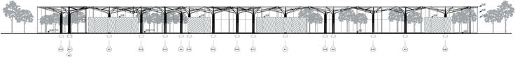 slasharchitects Park Service Pavilions Greenhouse 03 #slasharchitects #pavillion #design #section