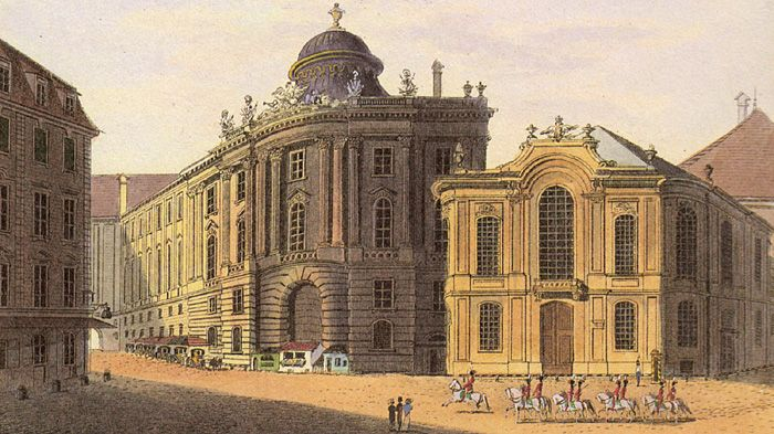 A look at the Burgtheater through time – that Burgtheater where Mozart premiered his piano concertos and operas.