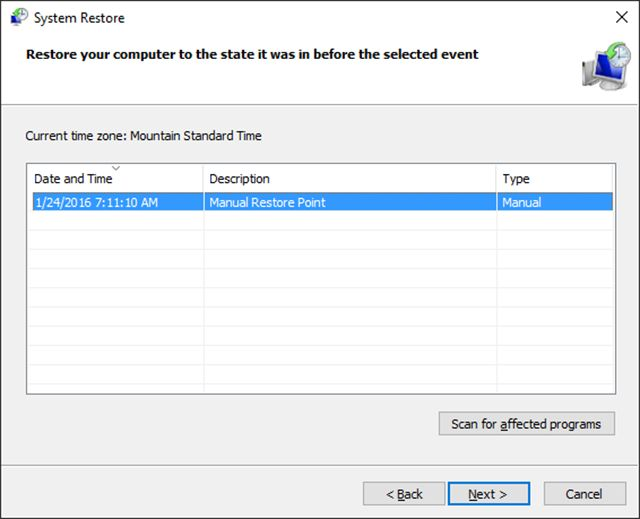 How to use System Restore in Windows 10, 8/8.1, 7, Vista, or XP. System Restore will 'undo' changes to important areas of the operating system.