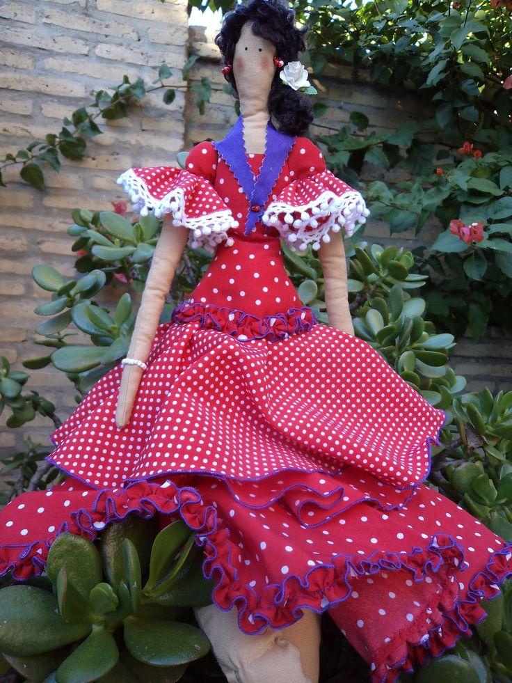 Muñeca Tilda flamenca