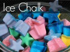 Ice Chalk - a fun, sensory filled experience for a hot summer day!