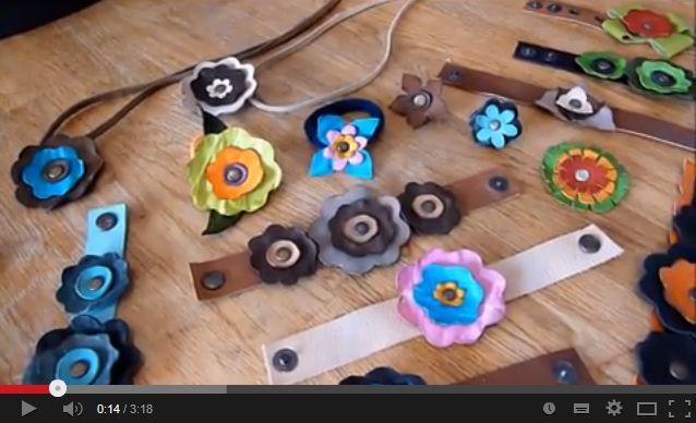 Kézműves Meska - Virágos hajgumi készítése bőrből youtube video