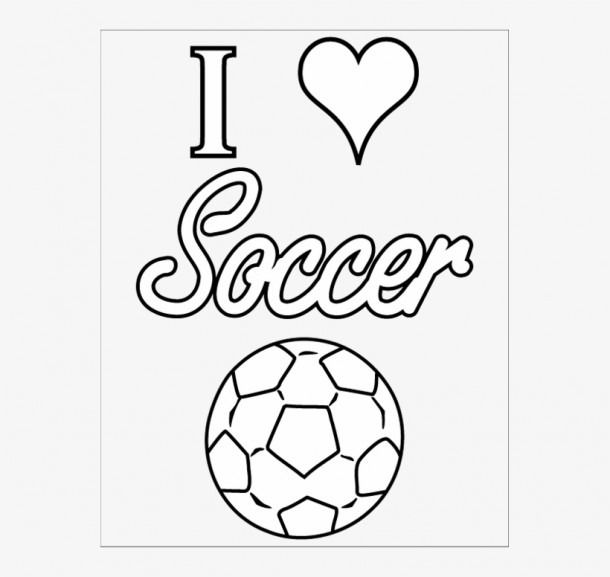 I Love Soccer Coloring Pages Coloring Coloringpages Sports