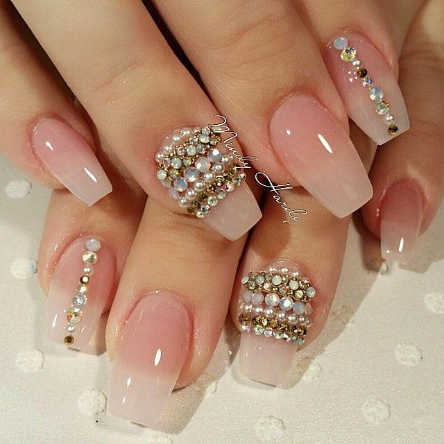 Not the bling just the clear nails love! | nailsss | Bling ...