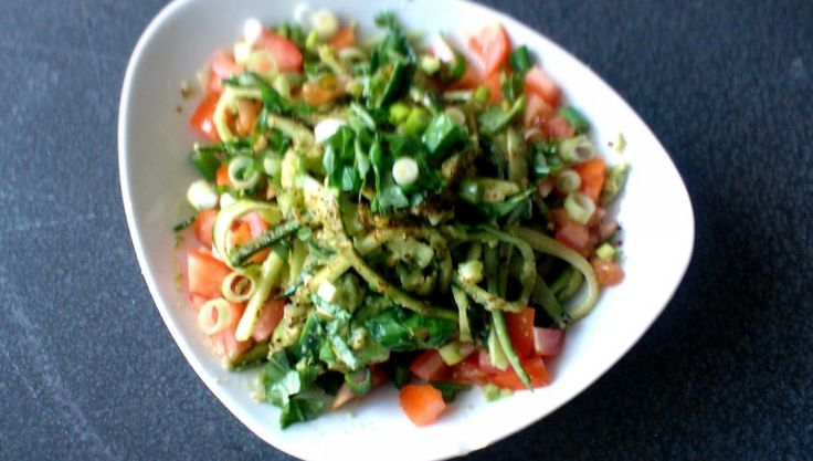 raw and spicy spring noodles