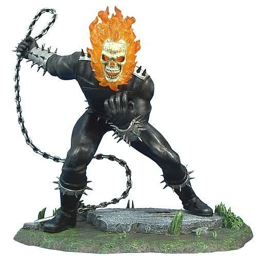 Marvel Diecast Ghost Rider Mini Scale Statue by Corgi. $37.99. Corgi Comic Book Themed Statues. *Made of spin cast metal and handpainted in a detailed fashion.*Limited edition of 2,500 pieces. *Brand new in manufacturers packaging.. Corgi Statues, Maguettes and Busts - Marvel Diecast Ghost Rider Mini Scale Statue - Item: COR-US59311-C. Save 53%!