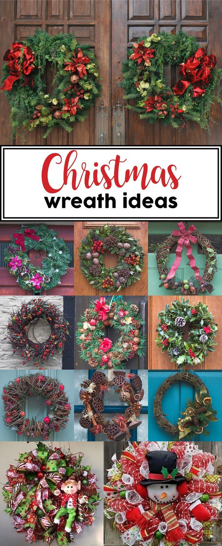 TONS of Christmas wreath ideas!