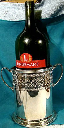 Antique Walker & Hall Silver Plate Wine Caddy or Slide 1900