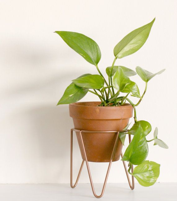 This vintage inspired hairpin leg metal wire plant stand is designed for indoor and outdoor use and is great for small spaces. It is made to fit