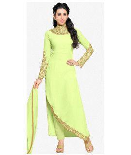 Attractive Green Georgette Salwar Suit.