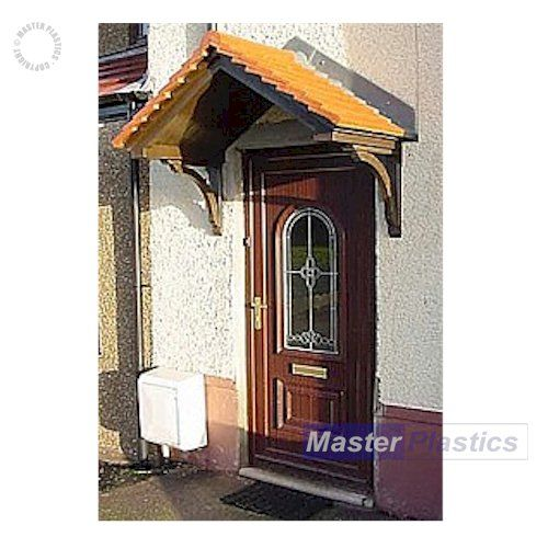 The Cheltenham Woodgrain - A traditional pitched canopy available with terracotta or grey tiles. It  sc 1 st  Pinterest & 33 best Door Canopies images on Pinterest | Canopies Door canopy ...