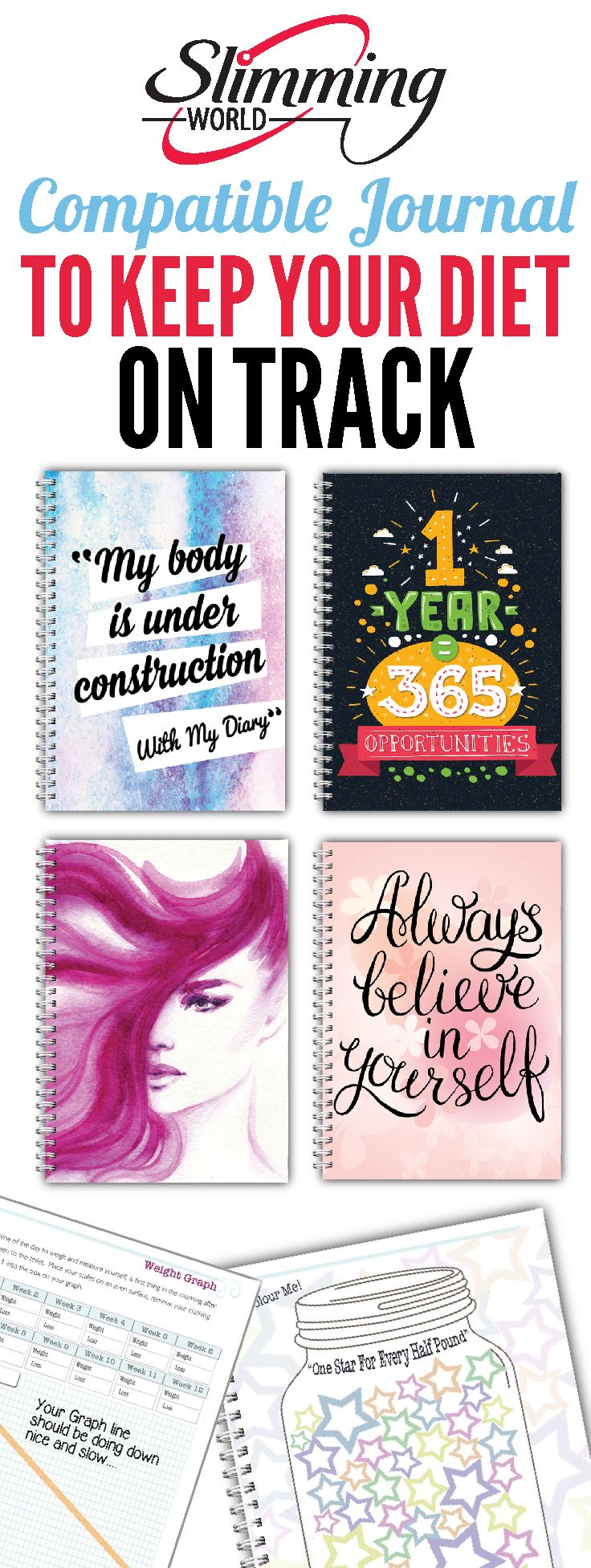 Stay focused and keep your Slimming World Diet with this special Journal.