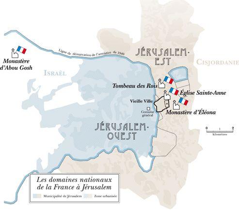 Les domaines nationaux de la France à Jérusalem