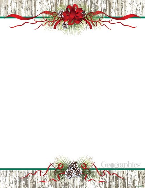 54 best Christmas Stationery \ Paper images on Pinterest - christmas letterhead templates word