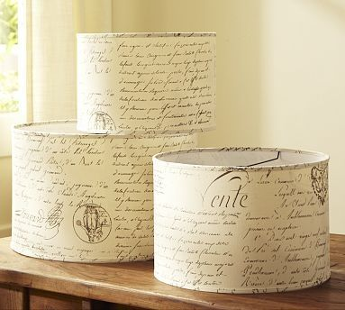 Very Cute Idea To Customize Plain Old Drum Shades. Use Adhesive Styrene,  Wall Paper
