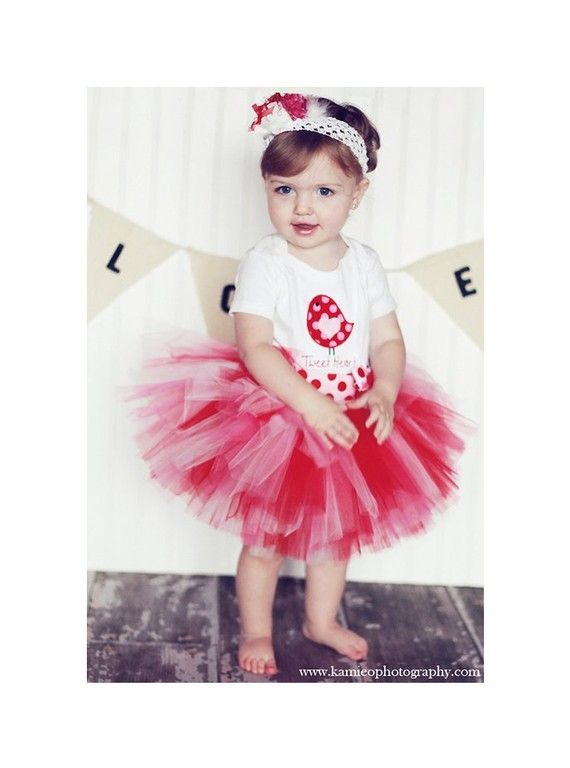 Valentine Tutu Skirt Baby Toddler Girl By TrinitysTutus 2500