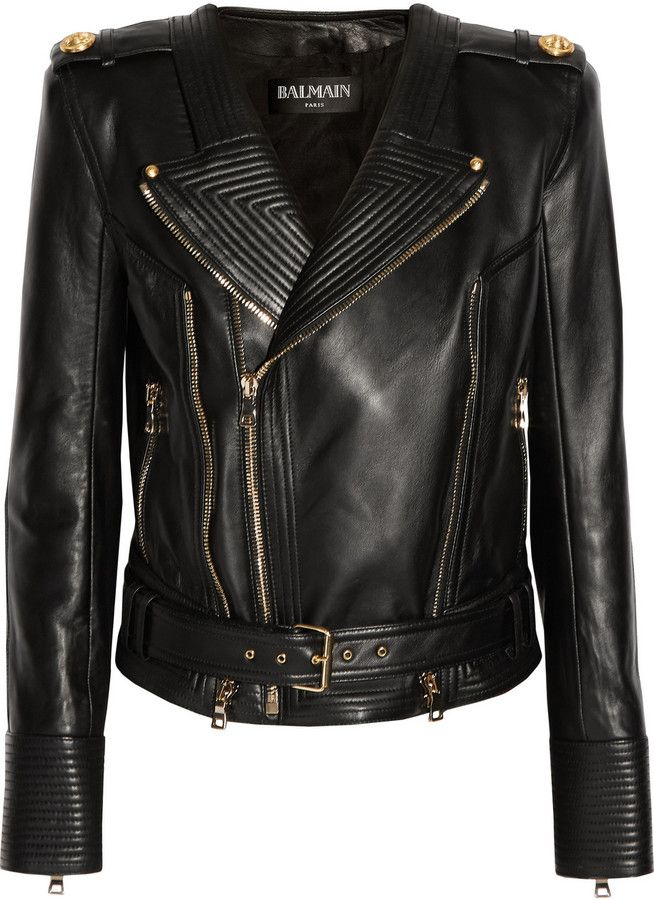 Balmain Leather biker jacket  |  ≼❃≽  @kimludcom
