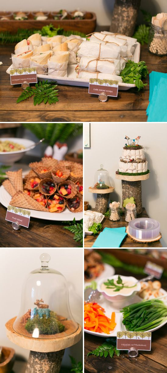 A Modern, Woodland Themed Baby Shower. I´m having a crush on glittery animals...