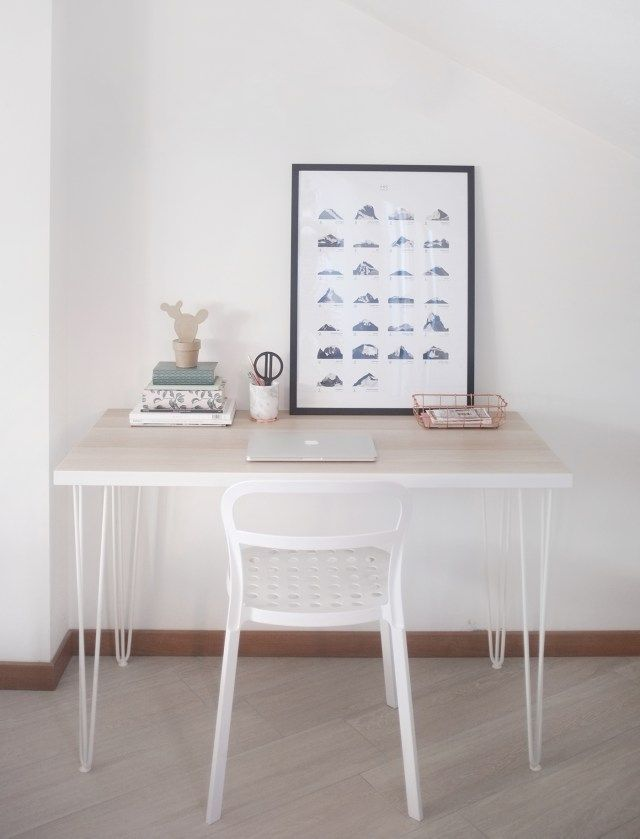 DIY: HOW TO MAKE YOUR OWN NORDIC STYLE DESK WITH HAIRPIN LEGS // That Scandinavian Feeling blog