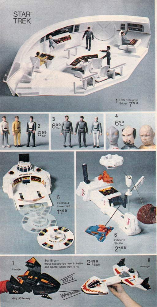 Star Trek Action Figures from a 1980 catalog #vintage #1980s #toys
