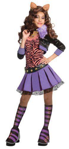Monster High Deluxe Clawdeen Wolf Costume - Medium -EB3