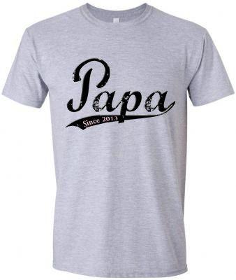 Papa -  Vintage Distressed Old School Font - Mens T- Shirt - You Pick Year - Custom Papa Shirt on Etsy, $20.00