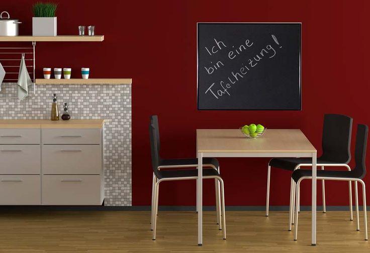 Tafelheizungen eignen sich ideal für Küchen! Hinterlassen Sie für Ihre Mitbewohner und Familie Notizen und heizen Sie mit einer Tafelheizung!