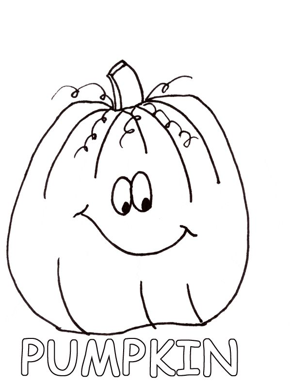 Fall Harvest Coloring Pages Printable Halloween Pumpkin