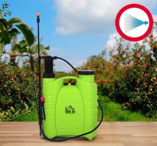 Garden Sprayer Backpack Pump 4 Gallon Lawn Chemical Tank Bottle Spray Wand Yard #Unbranded