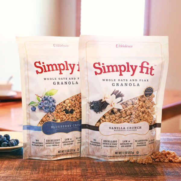 NEW Simply Fit Granola with whole oats, flax, blueberries & vanilla. Better for you—and so good.