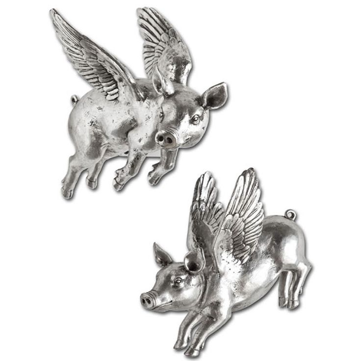 Flying Silver Pigs