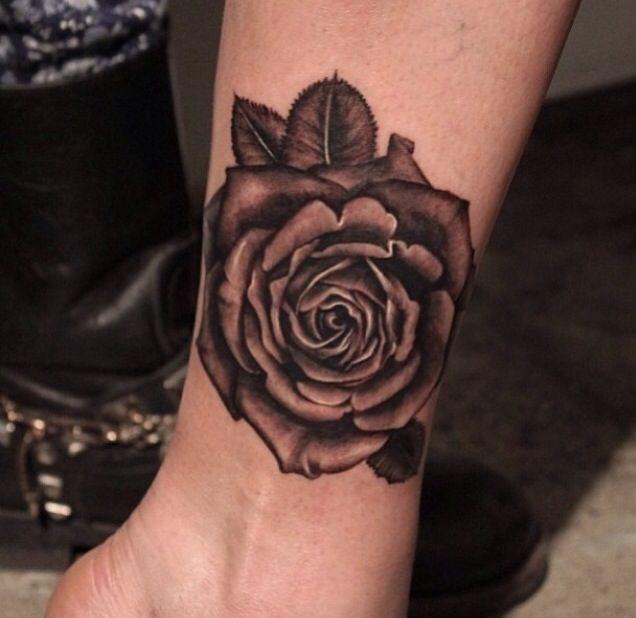 Rose tattoo on wrist | Skin Art | Flower wrist tattoos ...