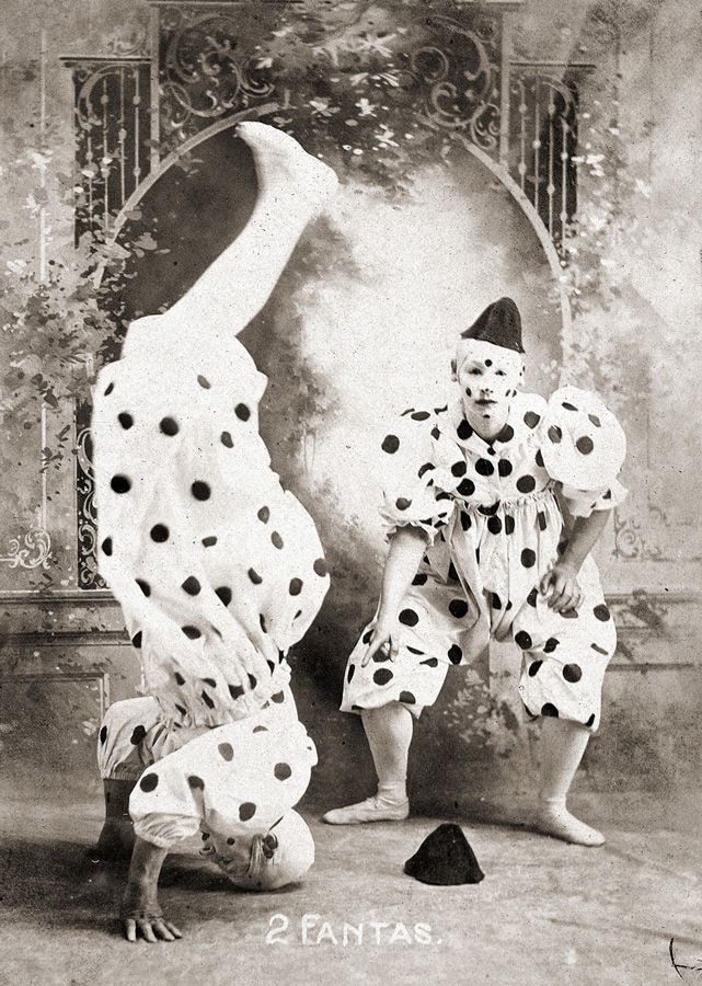 Clowns, circus performers from John Robinson's Ten Big Shows (c. 1900-1910.)