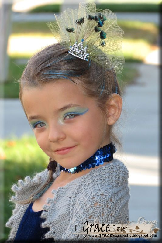 Peacock Head crown feathers tulle costume halloween.jpg