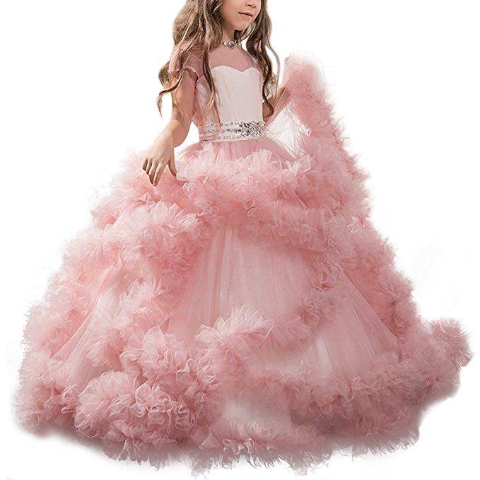 Blumenmadchenkleid A Linie Tull Lang Hochzeit Fest Madchen Kleid Mit Schleife Verzierung Kinderkle Blumenmadchenkleid Blumenmadchen Kleid Prinzessinnen Kleider